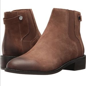 Franco Sarto Leather Ankle Boots - Brown Brandy